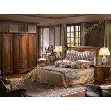 Кровать А Carpenter 230 walnut (обивка ткань)